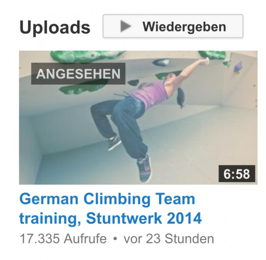 German Climbing Team training